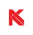 letter ak flat geometric design logo
