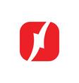 letter n thunder shape geometric logo vector image vector image
