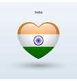 Love India symbol Heart flag icon vector image