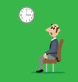 man sitting on chair vector image vector image