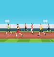 men is sprint race vector image vector image