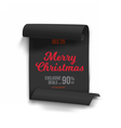 Merry Christmas Sale Poster Template vector image vector image