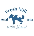 Milk cow logo badge template some nature vector image vector image