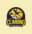 modern professional logo emblem climbing vector image vector image