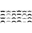 moustache silhouette vintage mustache funny fake vector image vector image