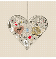 Natural heart vector image vector image