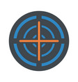 orange cross gun aim icon flat style vector image vector image