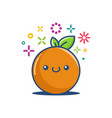 orange kawaii emoticon cartoon vector image
