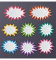 paper starburst speech bubbles
