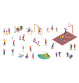 people in park sport activity play isometric set vector image vector image