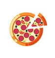 pizza slice pizzeria italian food cuisine icon vector image