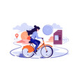 public city bicycle rental business vector image vector image