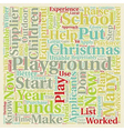 Put A Playground On Your Christmas List text vector image vector image