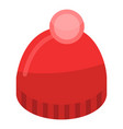 red winter hat icon isometric style vector image
