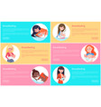 set of breastfeeding posters vector image vector image