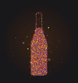 silhouette wine bottle abstract style color vector image vector image