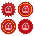 Smart home sign icon Smart house button vector image