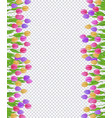 spring border with colorful tulips with green vector image