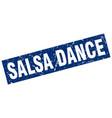 square grunge blue salsa dance stamp vector image vector image