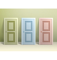 Three doors on the floor vector image