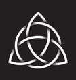 triquetra dot work ancient pagan symbol vector image