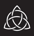 triquetra dot work ancient pagan symbol vector image vector image