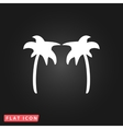 Two palm trees silhouette isolated vector image vector image