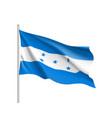 waving flag of honduras vector image