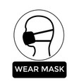 wear mask vector image