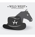 Western design vector image