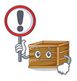 with sign crate character cartoon style vector image