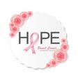 Breast Cancer Awareness Pink Ribbon vector image