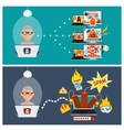 Hacker activity viruses hacking and e-mail spam vector image