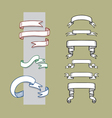 Ribbon Banner and Label Sketches 1 vector image