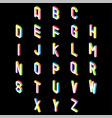 3d colorful font and alphabet