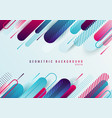 abstract blue and pink geometric rounded line vector image vector image