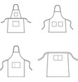 apron vector image vector image