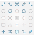 Arrow flat icons set vector image