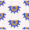 aztec evil eyes seamless pattern vector image vector image