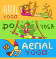 beautiful hand drawn aerial yoga vector image