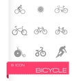 bicycle icons set vector image