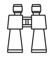 binocular toy icon outline style vector image
