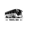 black sign bus vector image