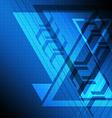 blue delta background vector image vector image