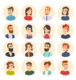 business avatars colored web pictures of male vector image