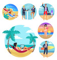 business trip vacations poster vector image vector image