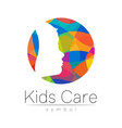 child logotype in rainbow circle colors
