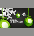 christmas and new year banner card christmas vector image vector image