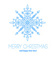 Christmas card with hand drawn snowflake vector image vector image