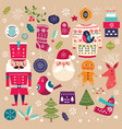 Christmas Collection with decorative elements vector image vector image
